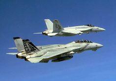 F-14 Tomcat and F/A -18 Super Hornet US Navy