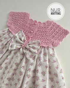 Sewing patterns free dress gowns little girls ideas Crochet Dress Girl, Crochet Baby Dress Pattern, Knit Baby Dress, Baby Dress Patterns, Crochet Girls, Crochet Baby Clothes, Baby Knitting Patterns, Crochet For Kids, Sewing Patterns Free