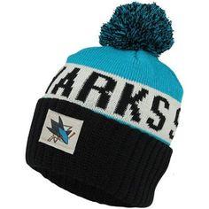 on sale d0690 961d1 Old Time Hockey San Jose Sharks Merit Long Knit Hat with Pom - Black Teal