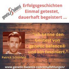 """Weiter geht's mit unseren #Erfolgsgeschichten.   Fußballprofi Patrick Schönfeld sagt: """"Ich kenne den Gentest von genetic balance® und bin fasziniert.""""   Mit unserem Test kannst du gezielt dein Training und deine Ernährung steuern. Damit steigern sich auch deine Leistungsfähigkeit, Vitalität und Regenerationsfähigkeit.  #diereisebeginnt#startedasabenteuer#macheseinfach#geneticbalance#dnatest#dna#abnehmen#gesund#healthy#health#gesundheit#dnastyle#ernährung#ernährungsplan #erfolg Dna, Movie Posters, Movies, Weight Loss, Health, Simple, Nice Asses, 2016 Movies, Film Poster"""