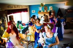 The ultimate At-Home Disney Wedding...  Ariel+Eric and princess