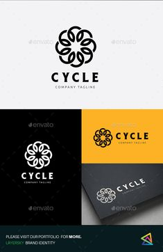 Cycle  Logo Design Template Vector #logotype Download it here: http://graphicriver.net/item/cycle-logo/13062893?s_rank=489?ref=nexion