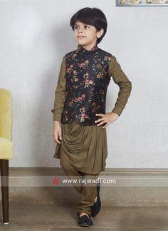 Stylish Cotton Silk Koti Set For Party. #rajwadi #kidswear #boys #ethnic #traditional #modern #trendy #fashionable #kidsfashion
