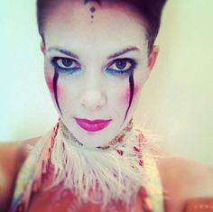 lucent clown makeup