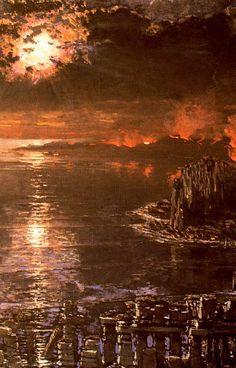 El mar Muerto. Museo de Bellas Artes. Valencia. Obra de Antonio Muñoz Degrain