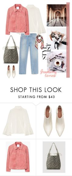 """Strawberry tones"" by nadi on Polyvore featuring moda, Fendi, MANGO, jeans i Whiteboots"