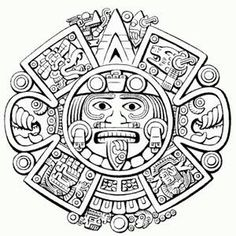 Aztec Art Coloring Pages on moon goddess art vector . Chicano Tattoos, Chicano Art, Body Art Tattoos, Tattoo Maori, Tatuagem Azteca, Maya Art, Sol Maya, Inka Tattoo, Aztec Warrior Tattoo