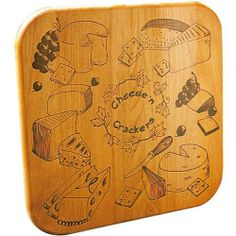 Catskill Craftsmen Cheese N' Crackers Cutting Board with Reverse Groove by Catskill Craftsmen. $19.00. Made in the USA. Dimensions: 12 Inches Wide by 12 Inches Deep by 3/4 Inches Thick. Reversible. Flat Grain with Oiled Finish. Juice groove on one side, brand on the other. Products offered by Catskill Craftsmen are made from naturally self-sustaining, non-endangered North American hardwoods, primarily birch and hard rock maple. Lumber is purchased from area sawmills, then...