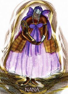 A Deusa mais velha entre todos os Orixás. Sua atitude costuma ser severa, mas é determinada naquilo que se propõe a fazer. Também costuma agir sempre com rigor na hora de tomar decisões. Este Orixá oferece segurança e jamais aceita uma traição. Conforme a tradição afro-brasileira, Nanã além de ser a mais antiga das divindades, foi também a primeira esposa de Oxalá.