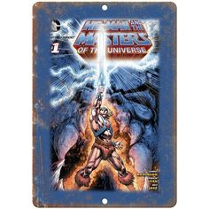 """Masters of the Universe Mattel Electronics 10/"""" X 7/"""" Reproduction Metal Sign G47"""
