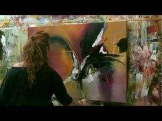 """Abstract acrylic painting Demo - Abstrakte Malerei """"Wish I could fly"""" by Zacher-Finet - YouTube"""