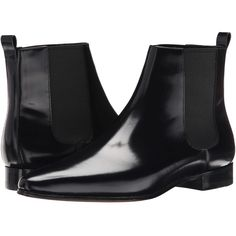 Michael Kors Luca (Black Spazzolato/Elastic) Women's Pull-on Boots ($248) ❤ liked on Polyvore featuring shoes, boots, black, shiny black shoes, pull on boots, slip on shoes, black shoes and elastic boots