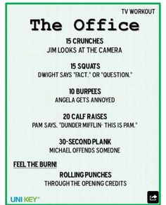 The Office TV Workout