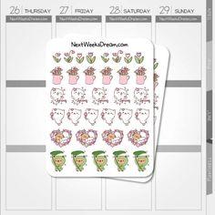 Spring is here Planner Stickers Flowers Planner by NextWeeksDream