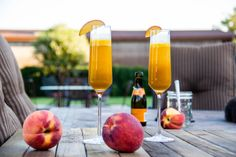 Fresh Summeripe Yellow Peach Bellini