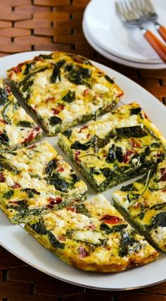 Frittata with Kale, Red Peppers, and Feta Cheese