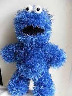 DANSK opskrift - Hæklet Cookie Monster