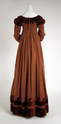 Dress, made of silk, 1818, British