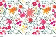floral pattern | watercolor wildflowers | Kelly Ventura