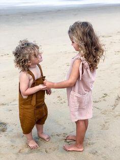 Girls Boys Unisex Romper Overall Golden Ochre Pink Checks Tartan Little Boy Fashion, Kids Fashion, Bohemian Girls, Star Girl, Stylish Kids, Summer Kids, Pink Girl, Tartan, Little Ones
