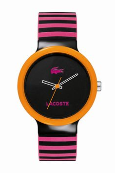 Lacoste Pink Striped Goa : Watches
