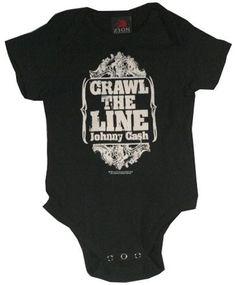 Johnny Cash Onesie Baby Creeper Crawl