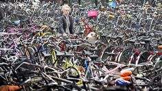 Having a hard time finding parking for your car in the city? Finding a parking space for your bike in Amsterdam near the train stations is not easy either. ©Reuters