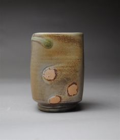 Wood Fired Tumbler Beer Cup by JohnMcCoyPottery on Etsy, $22.00