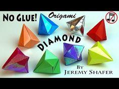 REAL Origami Diamond -- NO GLUE! (no music version) - YouTube