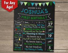 První narozeniny Tabule Sign - přizpůsobil a tisk Birthday plakát