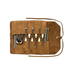 Small Tool Roll Handmade by Hide & Drink :: Swayze Suede