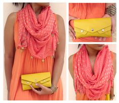 Cue citrus colors to keep things fresh and flirtatious! #FastrackBlog #Wallets