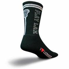 SockGuy Crew 8in Play Lacrosse Black Socks - http://ridingjerseys.com/sockguy-crew-8in-play-lacrosse-black-socks/