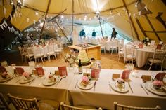 James and Jade's Magical Woodland Wedding by Mark Tierney...how fun is this tent?!!!!!!!!