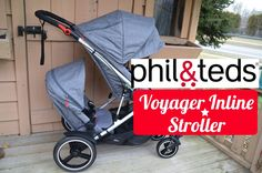 REVIEW!  phil&teds Voyager Inline Stroller