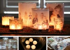 DIY Glowing Photo Luminaries