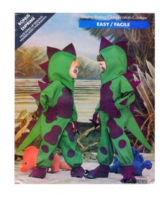 TODDLER/CHILDREN Dinosaur Halloween Costume Sewing Pattern Butterick 5798 T-Rex, Brontosaurus Dress-up play clothes Sz 2-3-4-5-6-6x Easy Sew by FindCraftyPatterns on Etsy