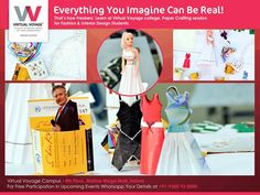 Everything you Can Imagine Can Be Real…. This is exactly what Virtual Voyage teaches, students during the inception of the design courses, For Imagination & Creativity are your weapons…Your Strengths…. Your Passion! Isn't it?