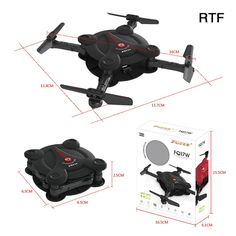 Only US$35.99, black FQ777 FQ17W Mini Wifi FPV Drone Foldable Pocket RC Quadcopter - - Tomtop.com