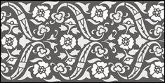 Ottoman Border No 16 stencils, stensils and stencles