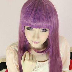 Harajuku Cosplay Light Purple Wig