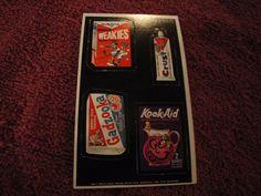 1969 TOPPS WACKY ADS # 29 WEAKIES -CRUST-KOOK AID- GADZOOKA