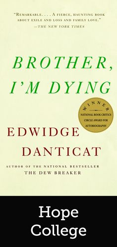 Read Book Brother, I'm Dying (Vintage Contemporaries), Author Edwidge Danticat