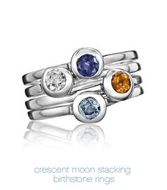 Luna & Stella | Modern Birthstone Jewelry | Rings /---I would like with kids birthstones and my new granddaughter