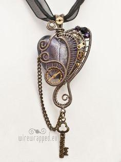Heart Mechanism necklace