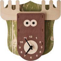 Modern Moose 3D Clock Moose Design www.mamadoo.com.au #mamadoo #roomdecor #kids
