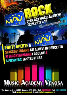 CLIENTE: Music Academy Venosa - locandina pubblicitaria