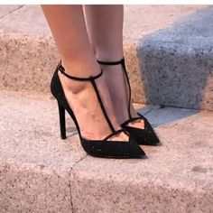 New ZARA court t-bar heels  Black diamond heels cheaper on ♏️ercari 125 Zara Shoes Heels