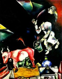 To Russia Asses and Others  - Marc Chagall