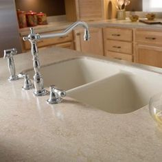 Corian 2 in. Solid Surface Countertop Sample in Tumbleweed-C930-15202AW - The Home Depot